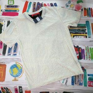 NWT Barabas Milano White Velvet Diamond T Shirt XL